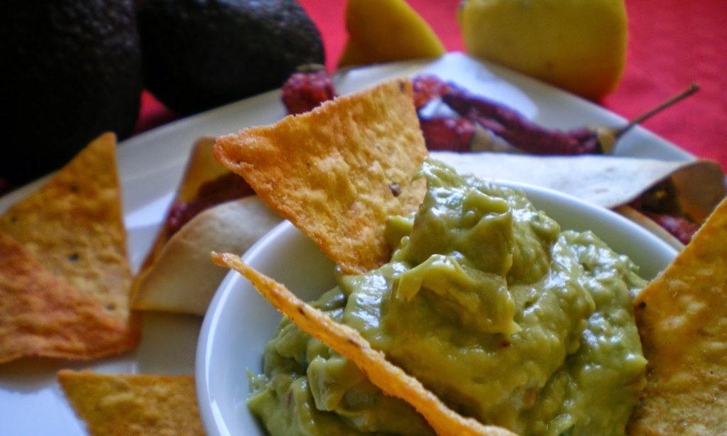 Guacamole con Chips de Maiz
