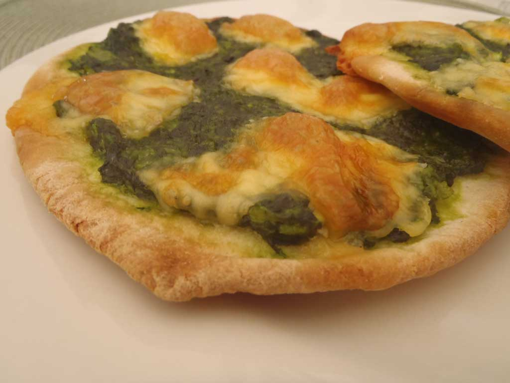 Pizza de espinaca
