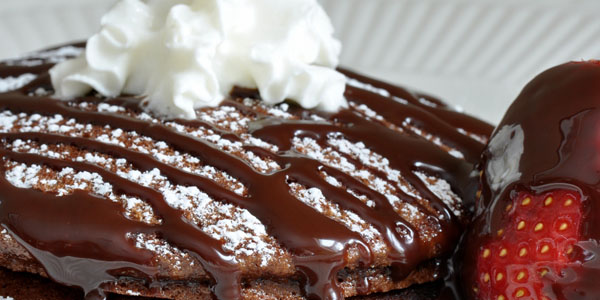 Hot cakes de chocolate