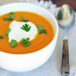 Sopa de crema de zanahorias